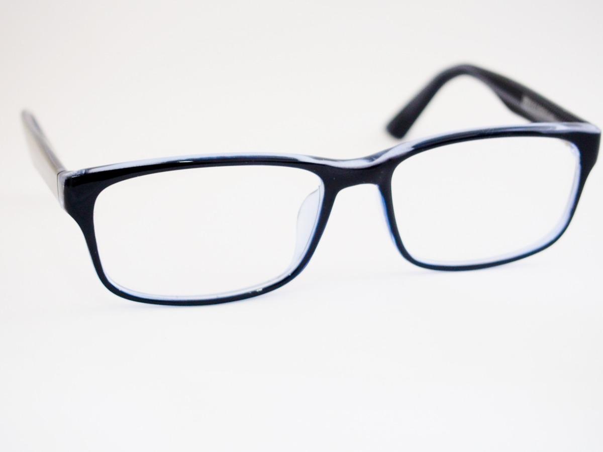 de6102da482a8 armação para óculos nysell acetato preto com fundo azul be14. Carregando  zoom.