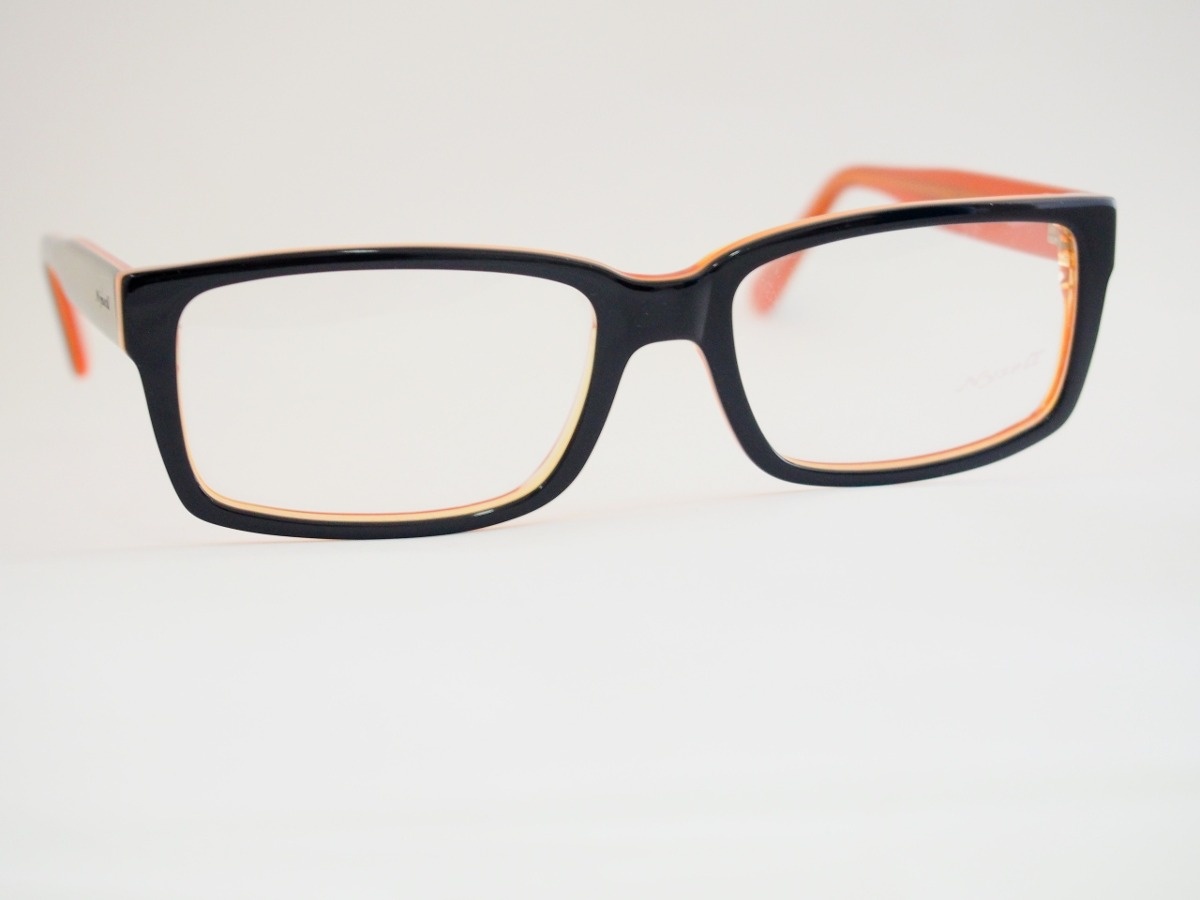2be2270620925 armação para óculos nysell acetato preto e laranja n3050. Carregando zoom.