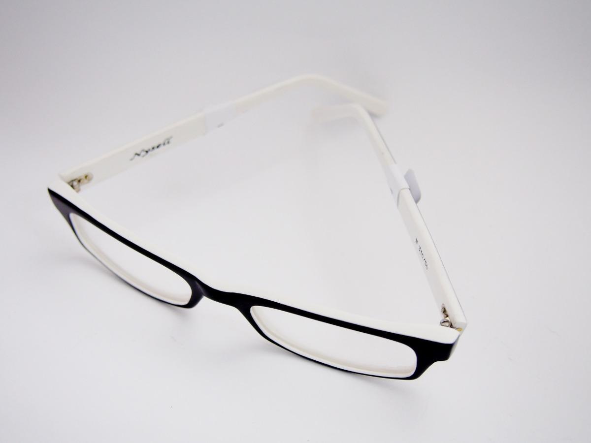 armação para óculos nysell acetato retangular preto branco. Carregando zoom. bcf09be4e7
