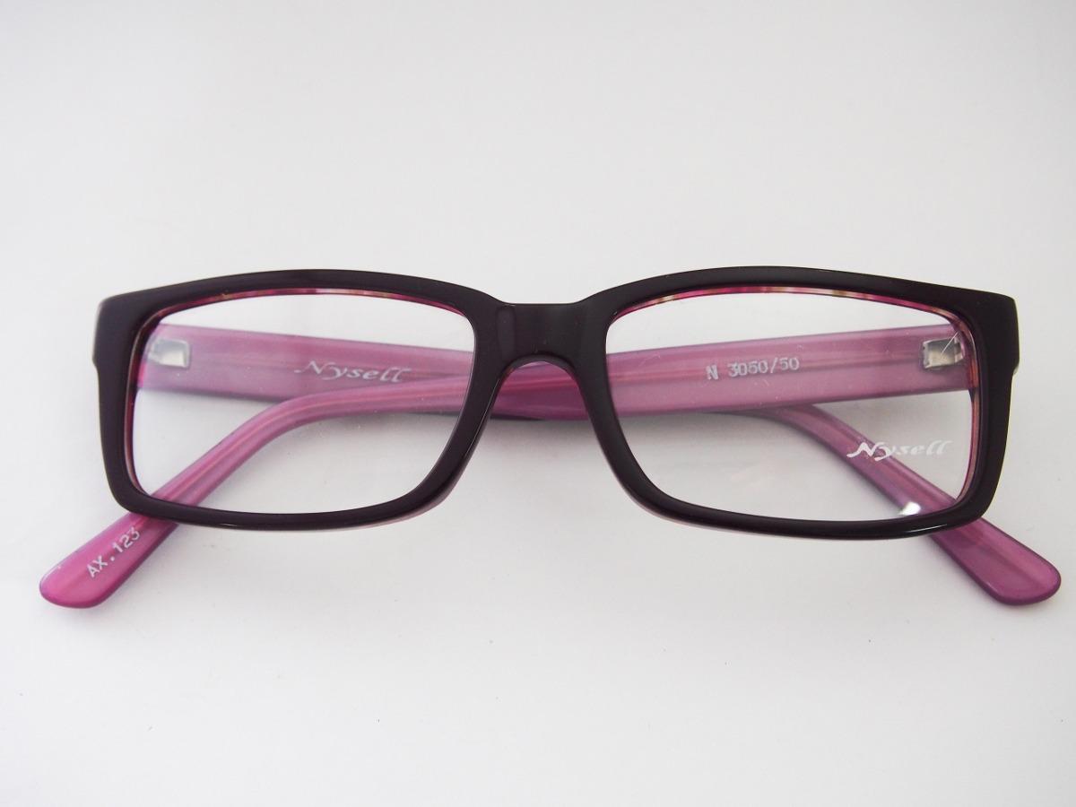 e1820186e98f0 armação para óculos nysell acetato roxo e lilás n3050. Carregando zoom.