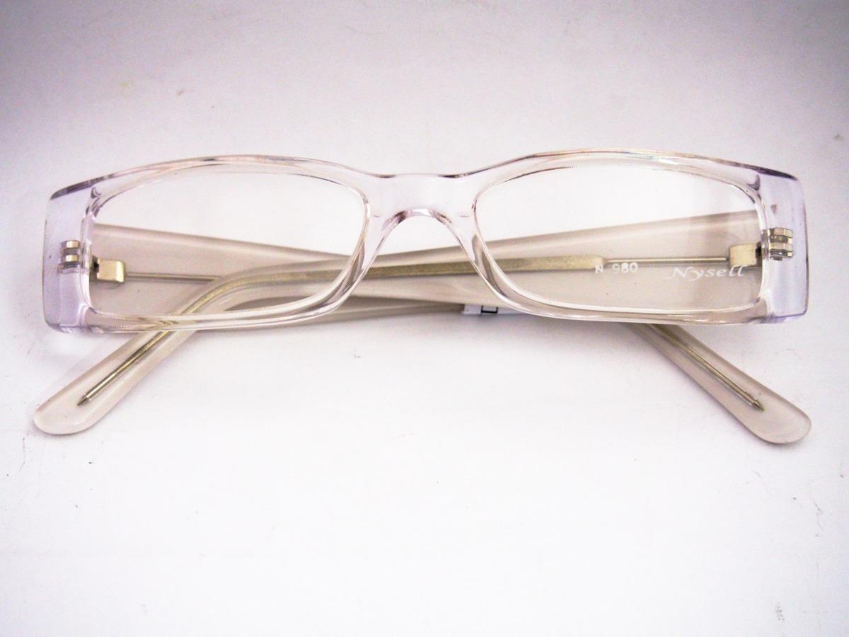 armação para óculos nysell acetato transparente feminina. Carregando zoom. 94eac4b4c9