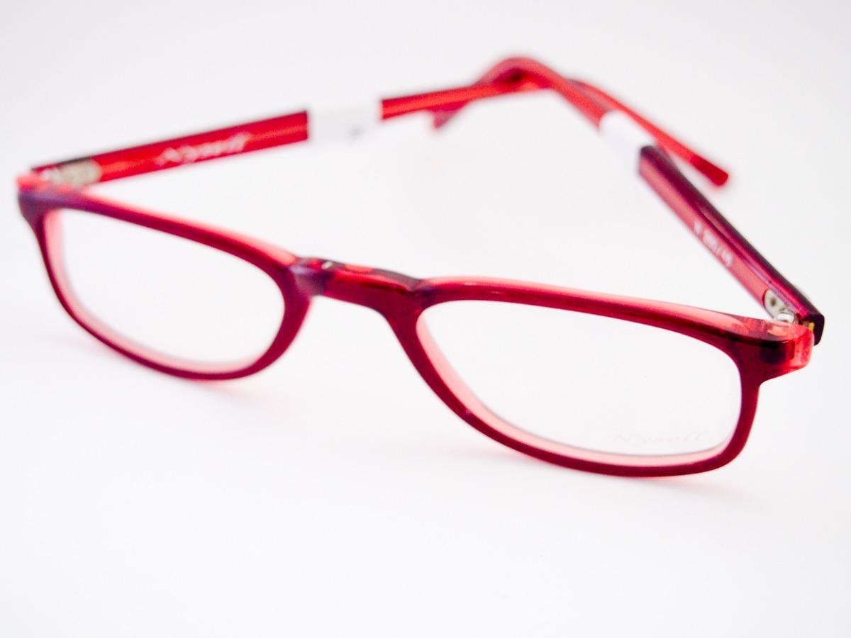 feaa6f81c2dbd armação para óculos nysell acetato vermelho leitura m280. Carregando zoom.