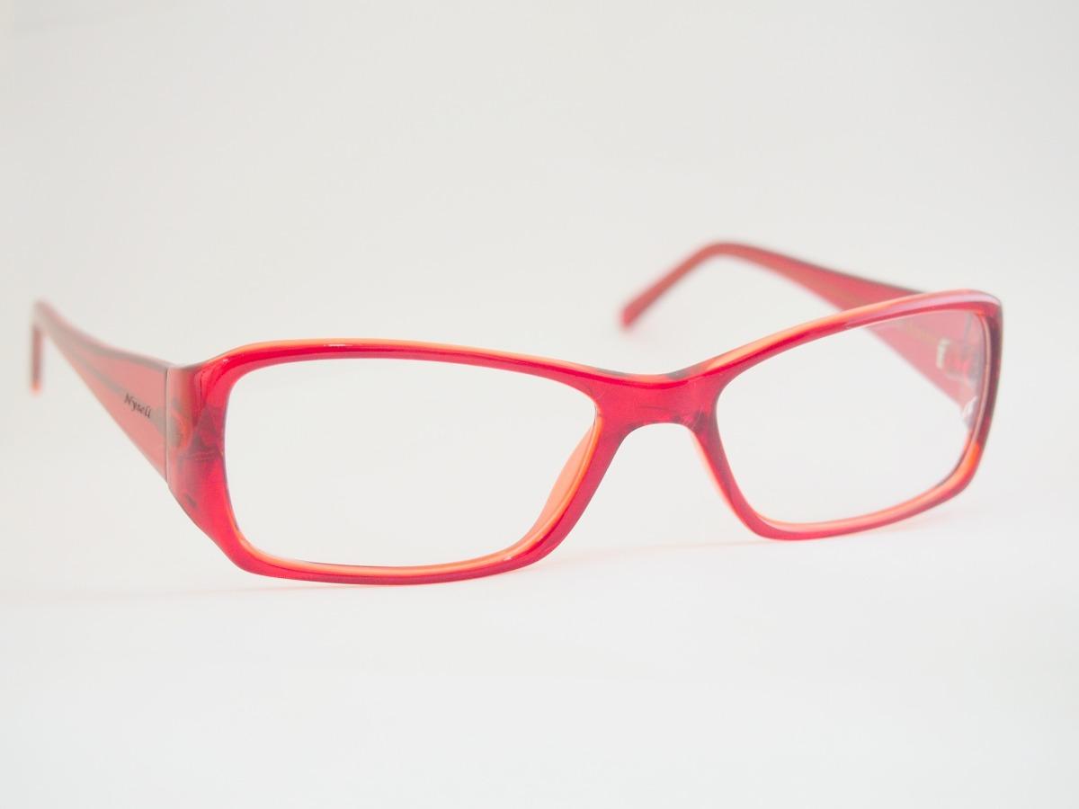 3da1f7e7fb167 armação para óculos nysell acetato vermelho n495. Carregando zoom.