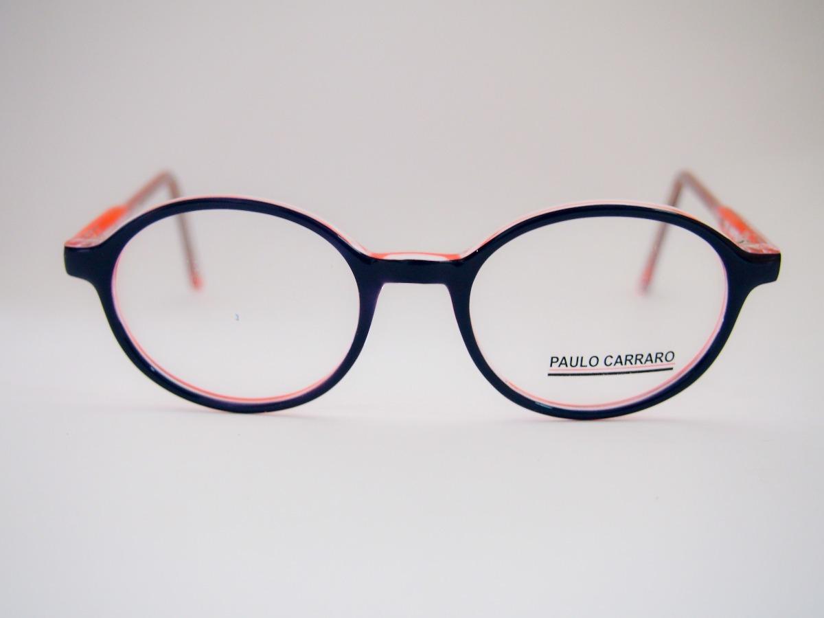 Armação Para Óculos Paulo Carraro Acetato Redondo M121 - R  120,00 ... 7da0dbed45