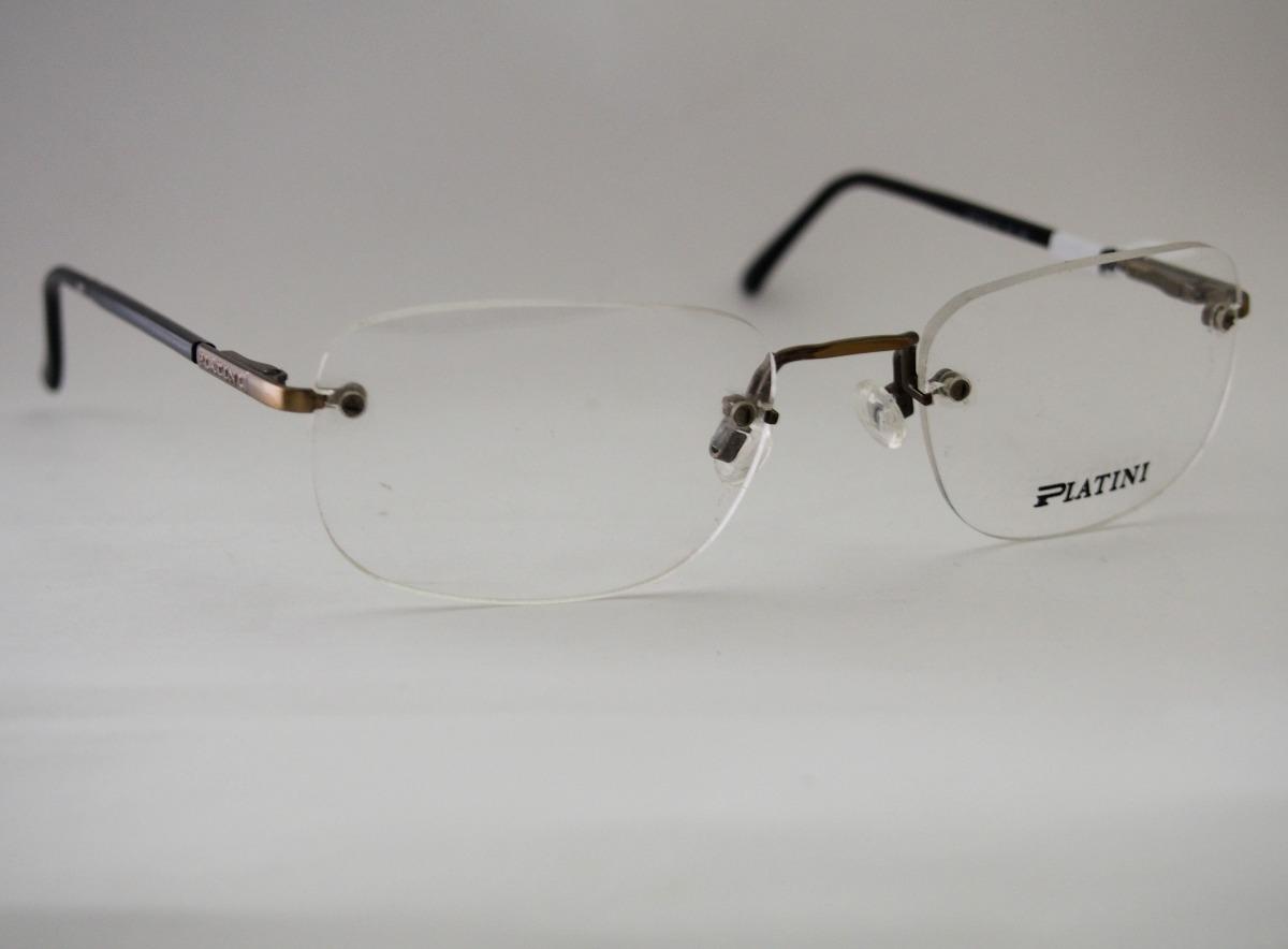 Armação Para Óculos Platini Sem Aro Bronze Retro - R  98,00 em ... 4d024127bd