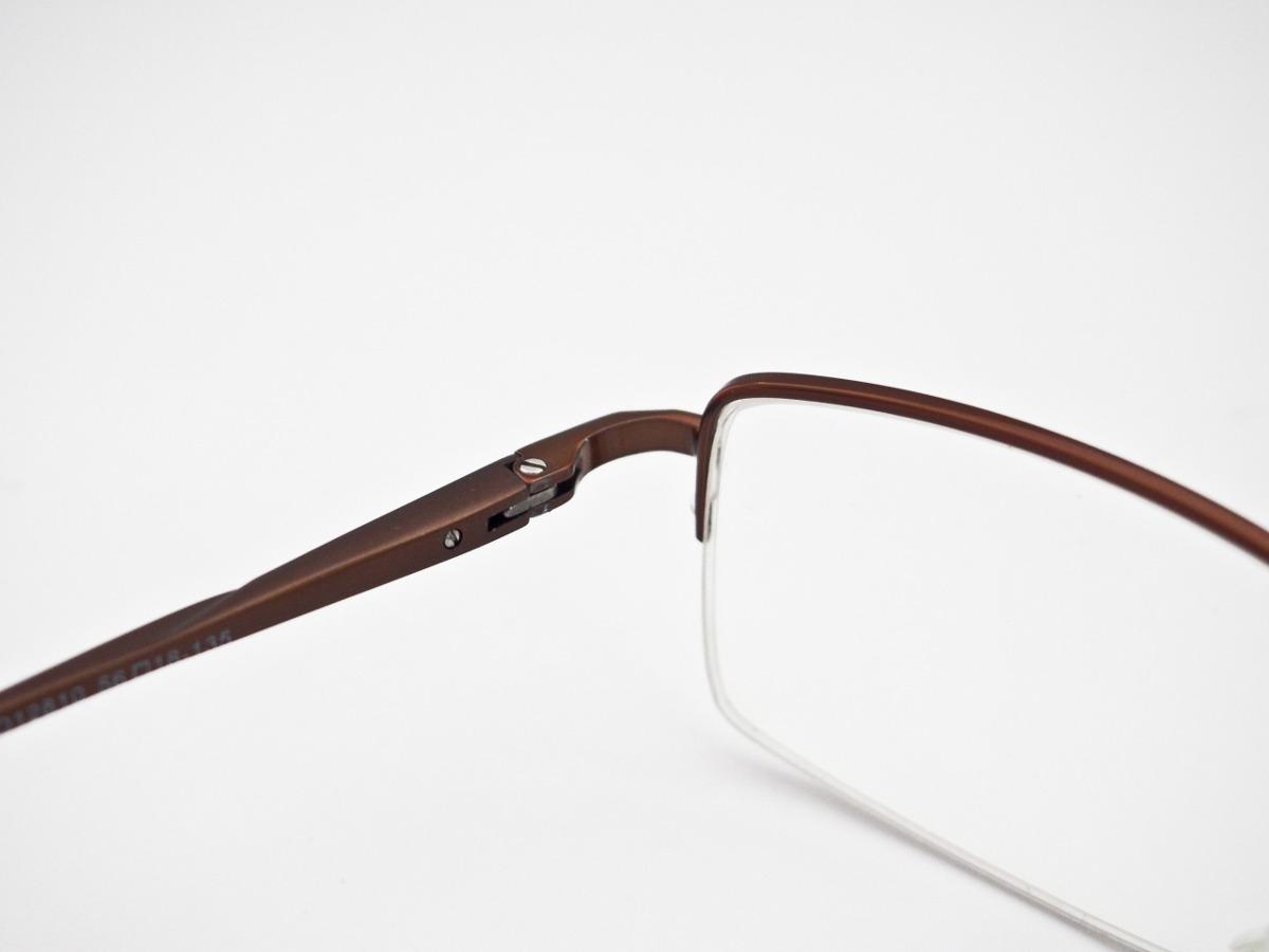 d1c5624c12229 armação para óculos retangular masculino marrom. Carregando zoom.