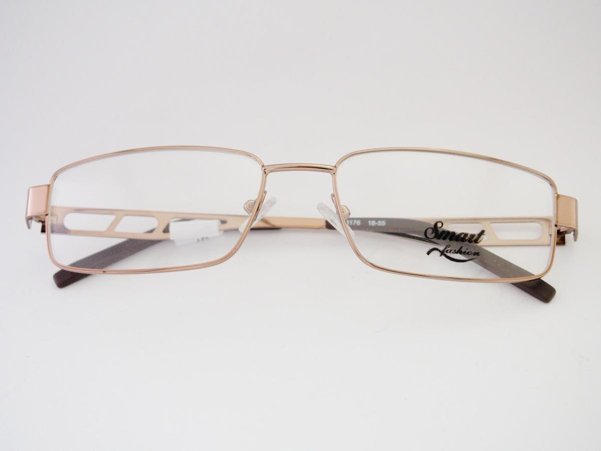 Armação Para Óculos Smart Dourada Retangular - R  158,00 em Mercado ... 72292e28cd