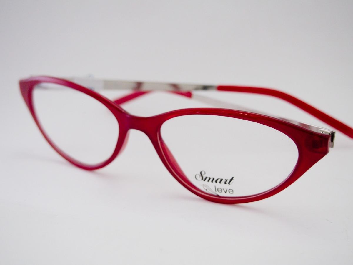 86f662be74d24 armação para óculos smart gatinho vermelho onça m6607. Carregando zoom.