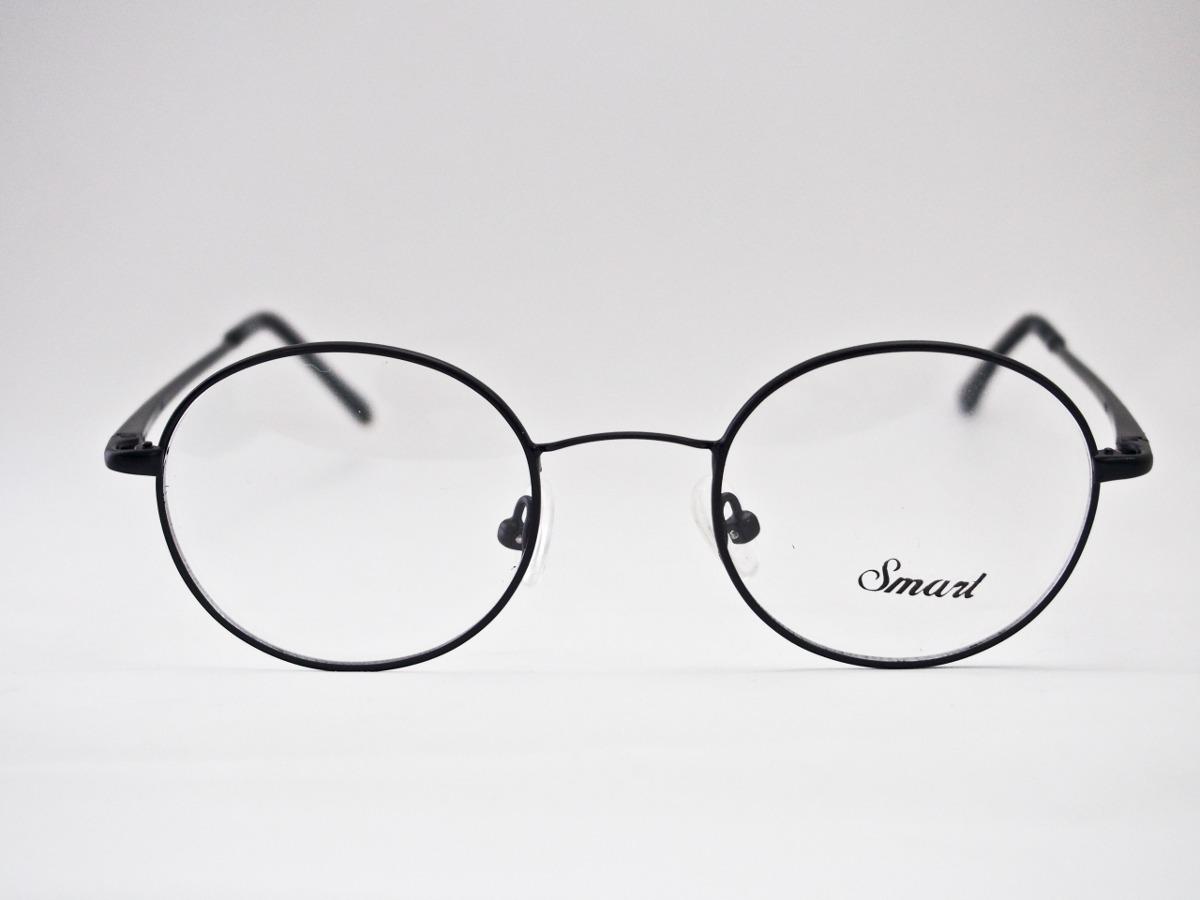 fba28a3e987f0 armação para óculos smart redonda estilo potter lennon preta. Carregando  zoom.