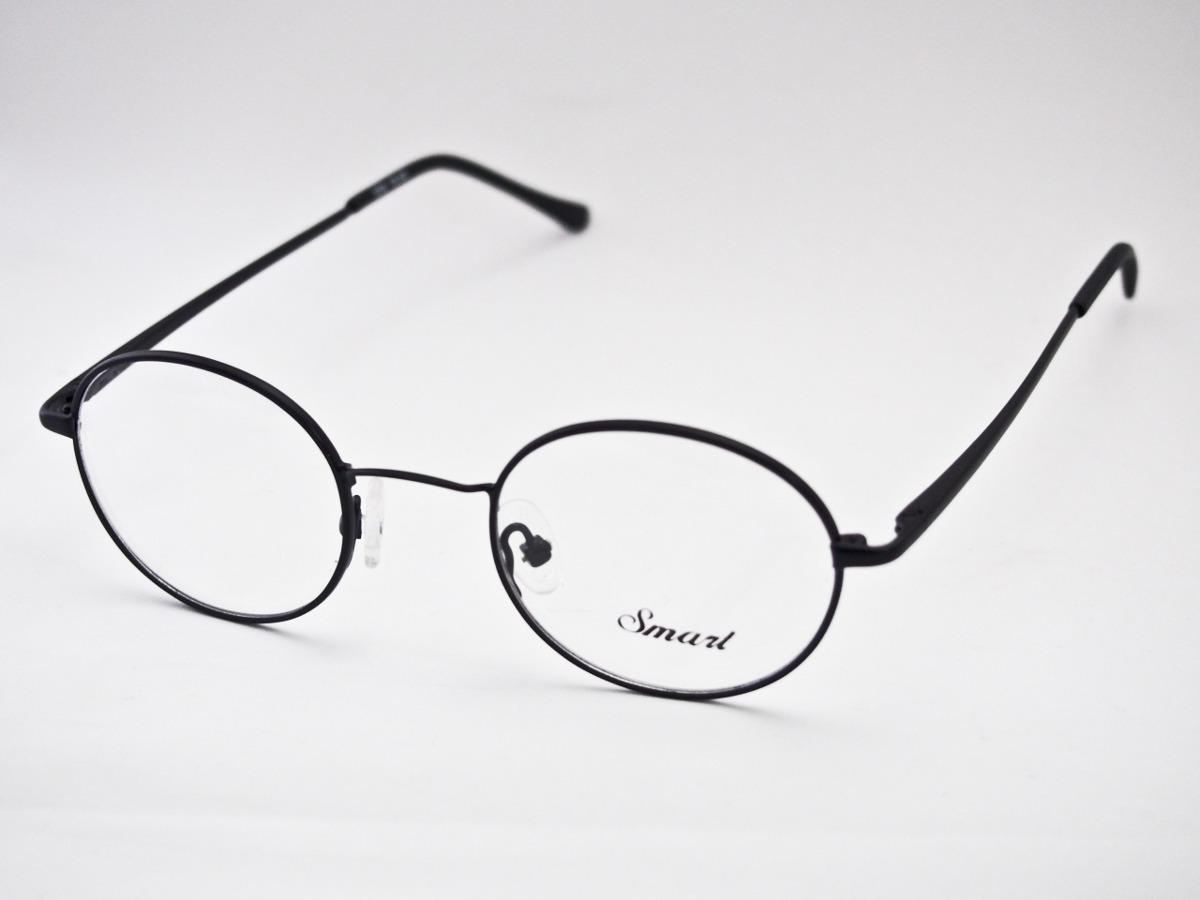 83a6f4ec19bfd armação para óculos smart redonda estilo potter lennon preta. Carregando  zoom.
