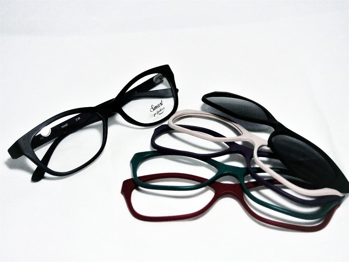 1843329265770 Armação Para Óculos Smart Troca Frente Gatinho 935 C2 - R  199,00 em ...