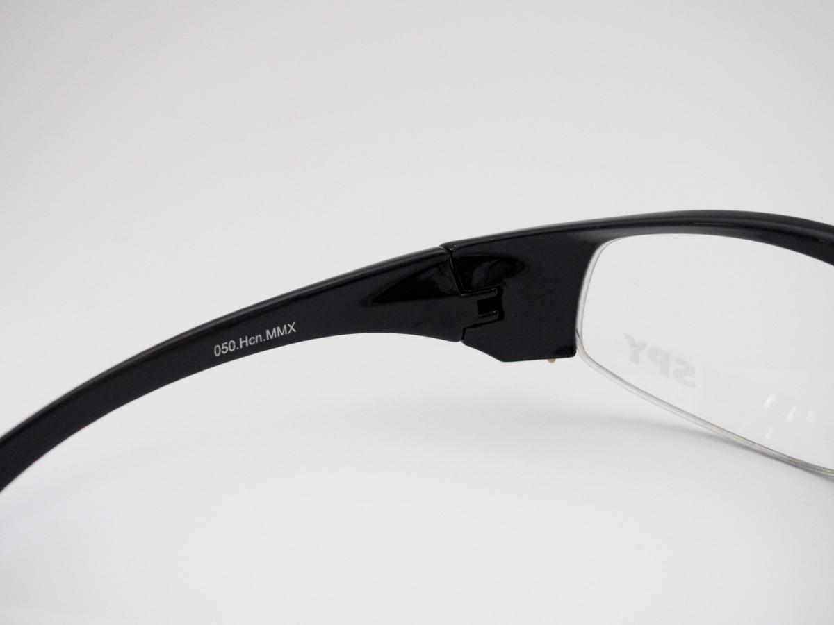 48c856950f692 armação para óculos spy esportivo curvado preto 50 mmx. Carregando zoom.