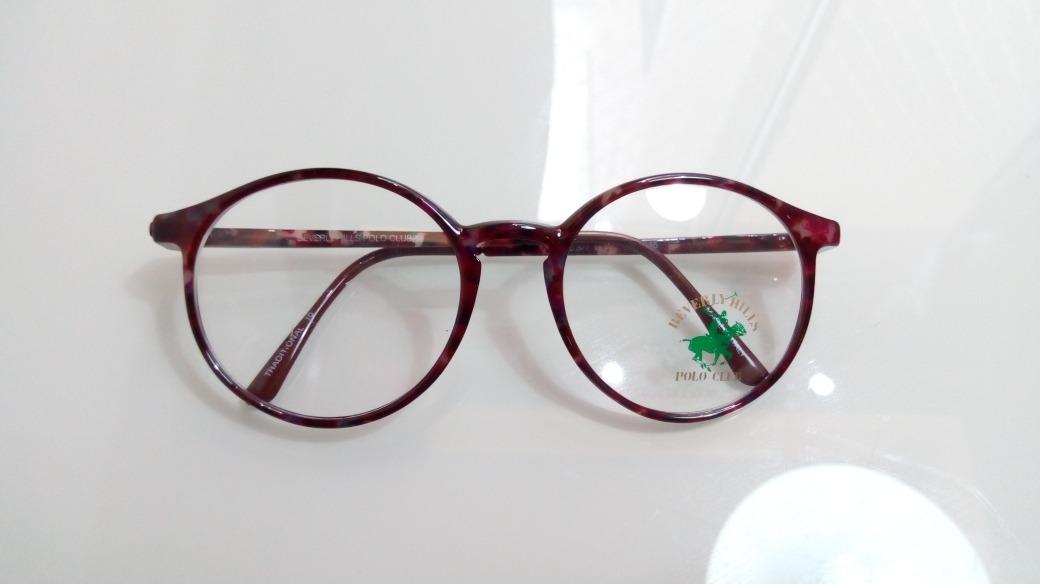 ad05b2d7a7659 armação pequena óculos redondo retrô pólo club original top. Carregando  zoom.