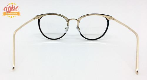 Armação P grau Óculos Redondo Vintage Feminino Varias Cores - R  44 ... ffd98a20fa