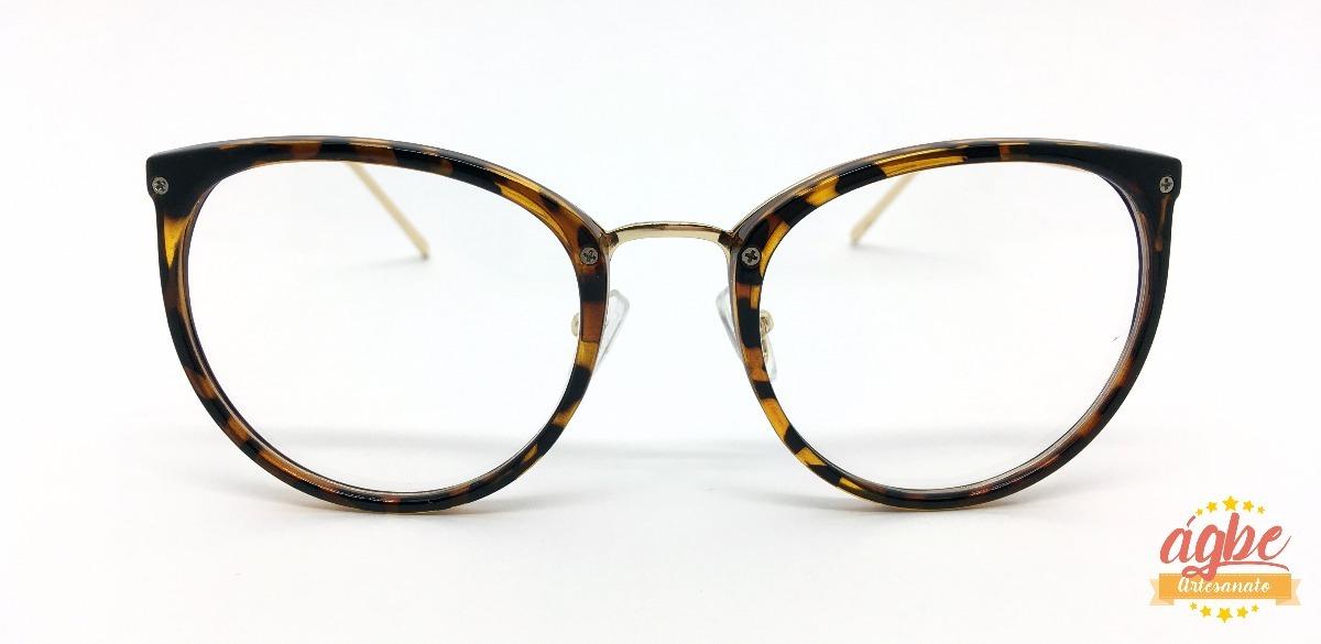 armação p grau óculos redondo vintage feminino varias cores. Carregando  zoom. 838e417da4