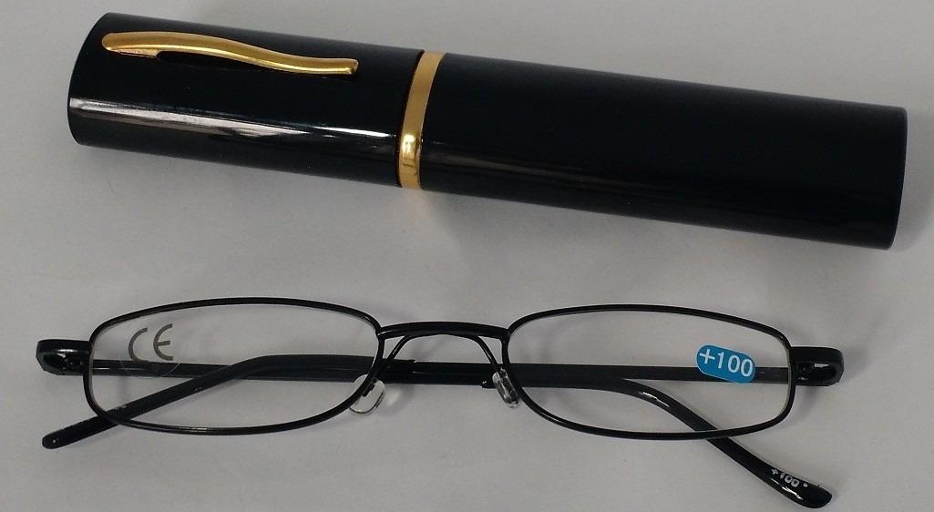 armação portatil oculos grau +2,25 leitura c estojo caneta. Carregando zoom. 0e645707c5