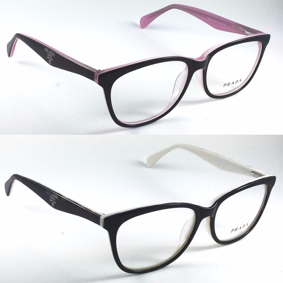 armação prada óculos grau feminino acetato - pronta entrega. Carregando  zoom. b0761bad58
