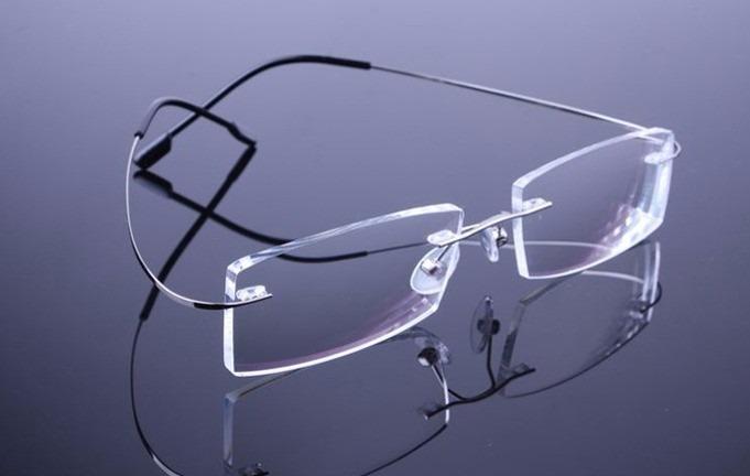 Armação Prata Grau Oculos Metal Titanium Titanio Sem Aro 408 - R  99 ... fc30dad735