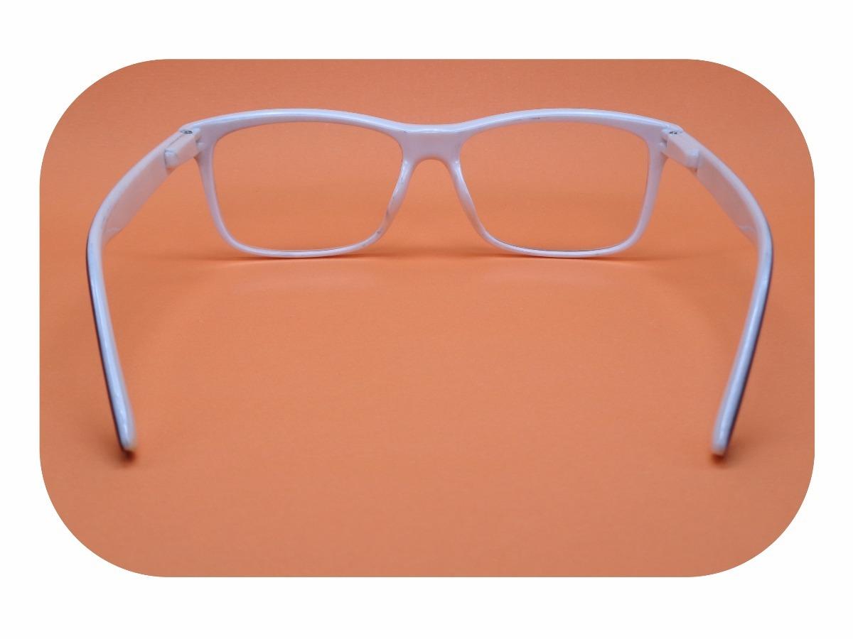 armação preta com branco óculos lentes sem grau ótica 51077. Carregando  zoom. 417b750415