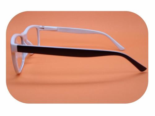 Armação Preta Com Branco Óculos Lentes Sem Grau Ótica 51077 - R  20 ... d0d72c5f75