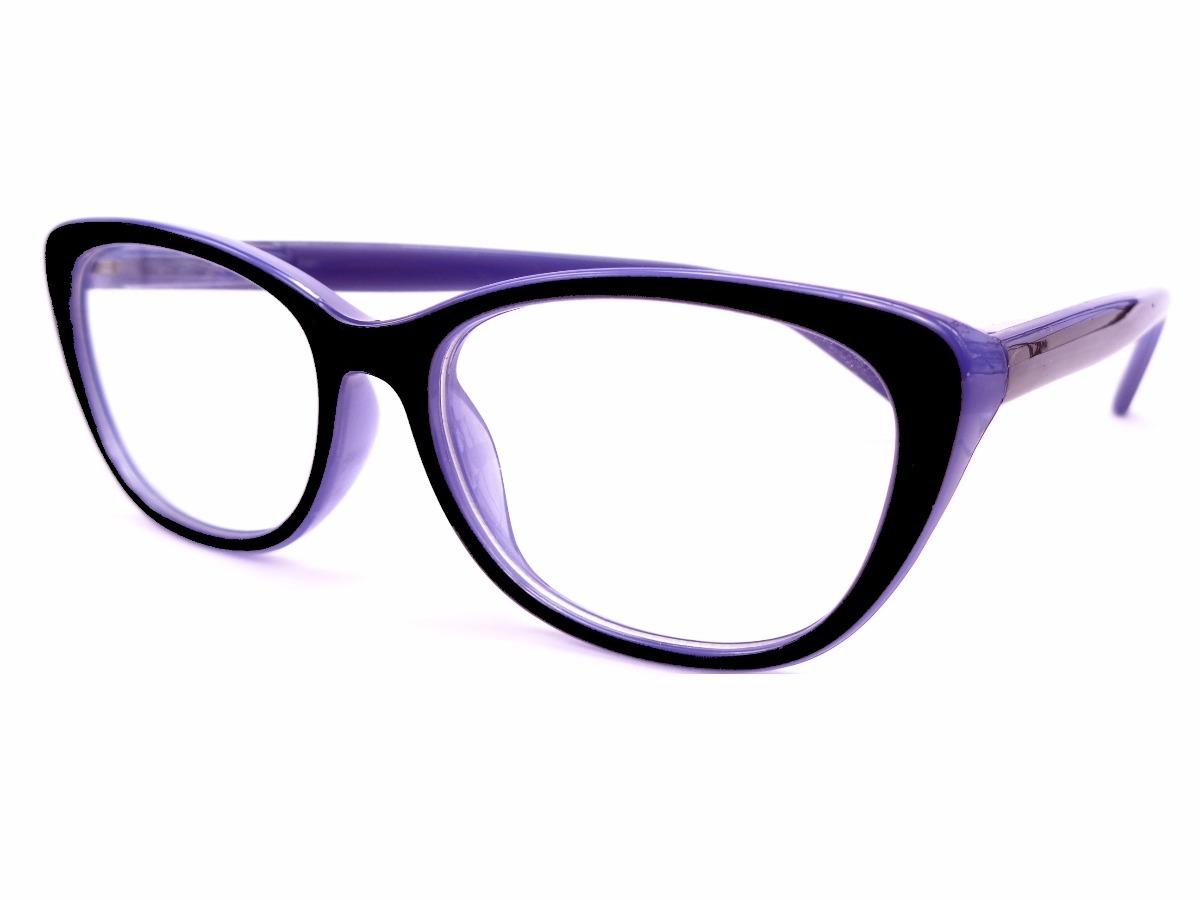 Armação Preta Com Lilás Óculos Gatinha Fem Lentes Grau K8815 - R  25 ... a94c9edb32