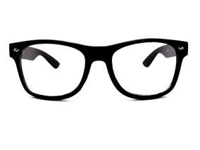 65b4a45ba Armação Preta Geek Masculino Feminina Óculos Lentes Sem Grau