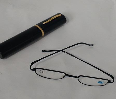 1bdc4e96ccf0c Armação Preta Oculos Grau +2,5 Leitura C estojo Caneta - R  24,99 ...