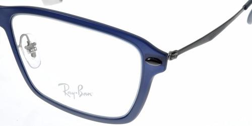 armação ray ban lightray rb7038 5451 55 azul liteforce