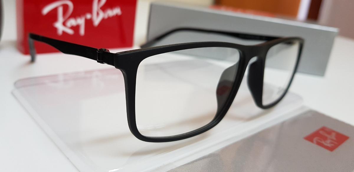 70c92b0e0 armação ray-ban óculos grau 8314 original 180 graus preta c9. Carregando  zoom.