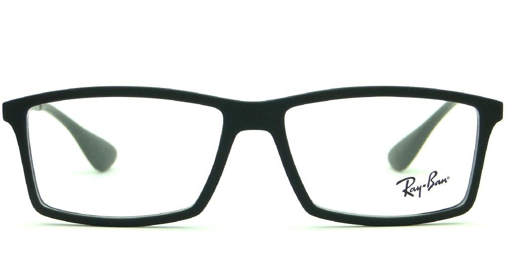 3b81cec57 armação ray ban rb 7021 preta para óculos de grau masculina. Carregando  zoom.