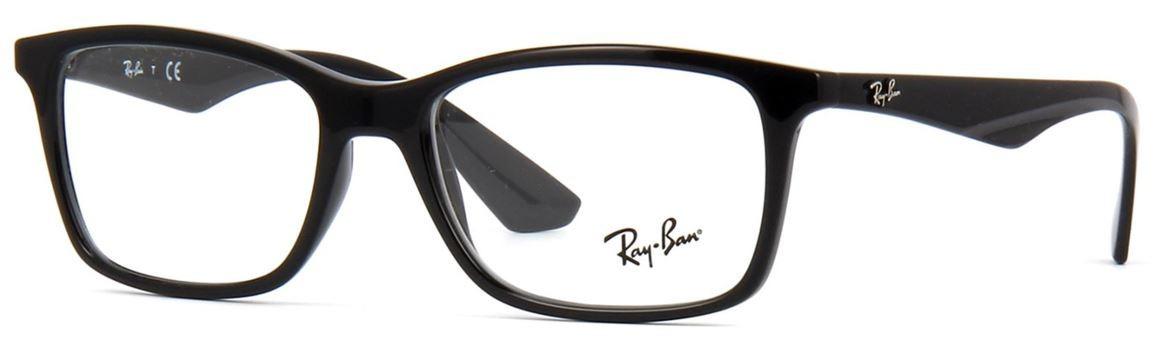 5a1e3fb66 Armação Ray Ban Rb 7047 Rb7047 2000 56 Preto - R$ 415,00 em Mercado ...