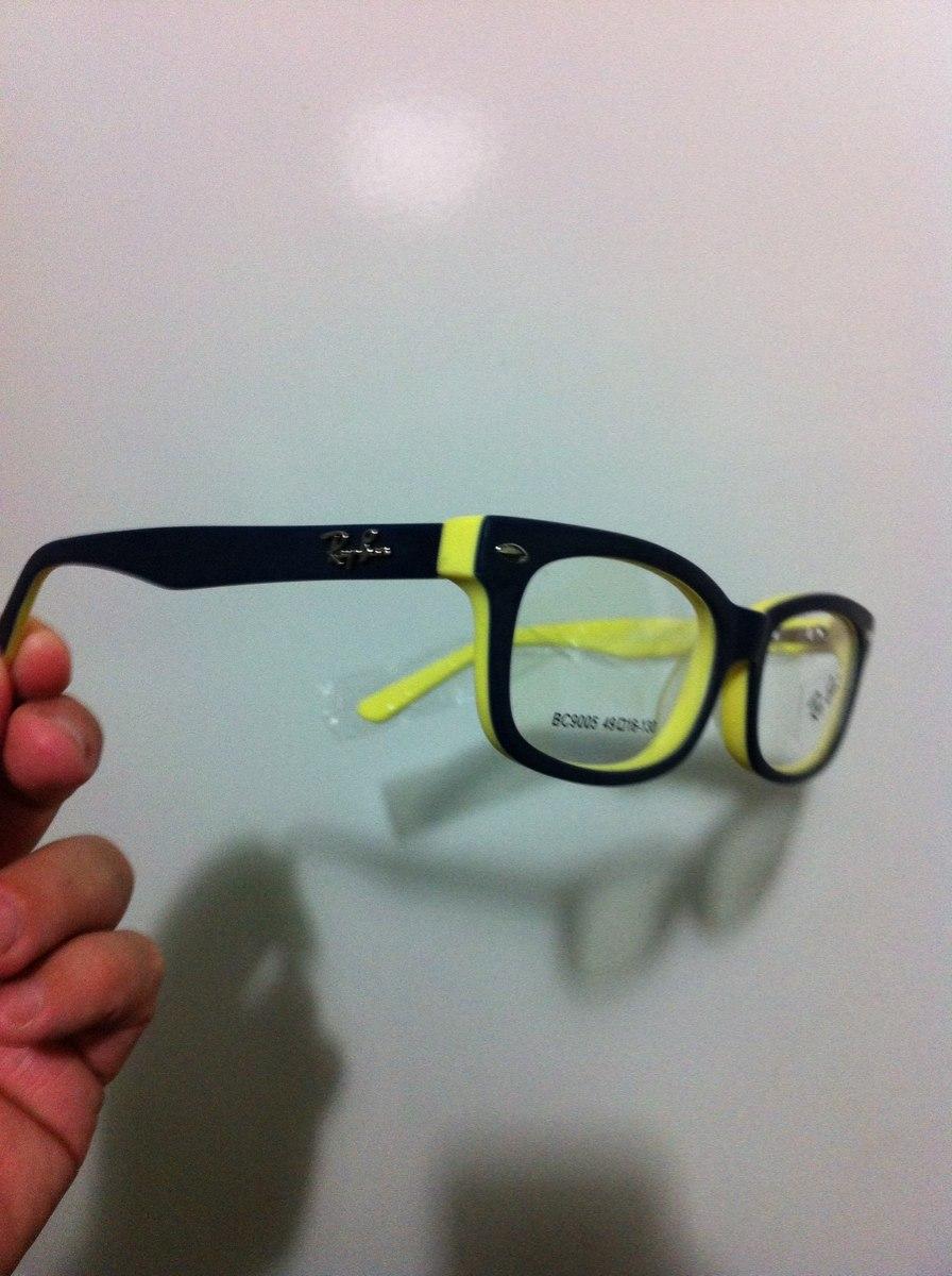 Armação Rayban Infantil Para Óculos De Grau - R  110,00 em Mercado Livre c57a0b8944