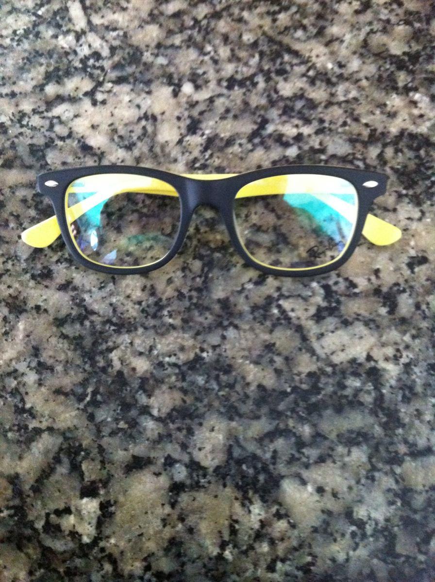 72f419d4f Armação Rayban Juvenil Para Óculos De Grau - R$ 110,00 em Mercado Livre