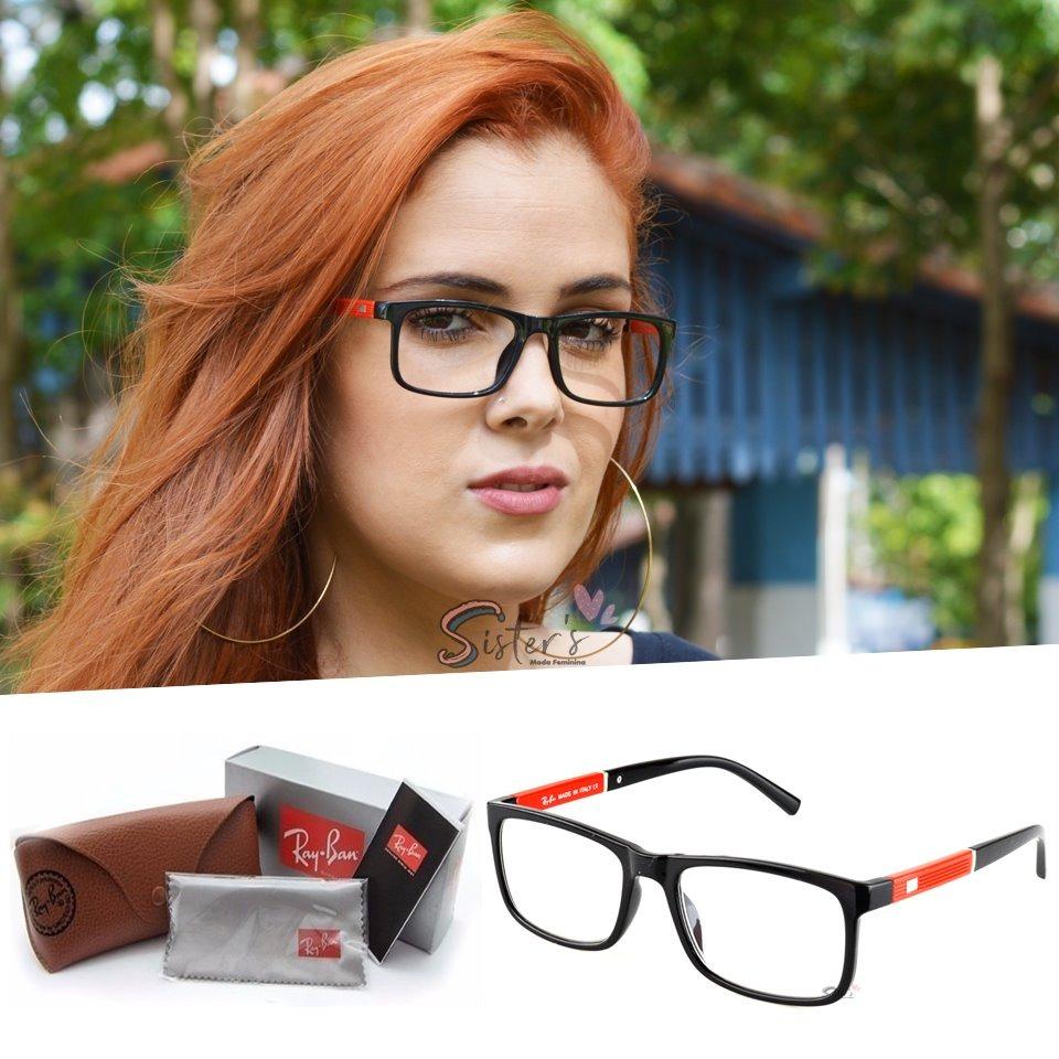 armação rayban óculos grau feminino masculino quadrado 5001. Carregando  zoom. 1505ad3b84