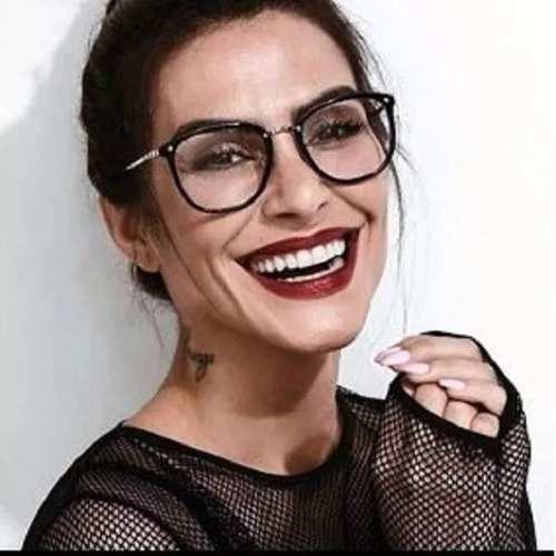 6544ed615 Armação Receituário Feminino Moda Gato Óculos Geek Vintage - R$ 79 ...