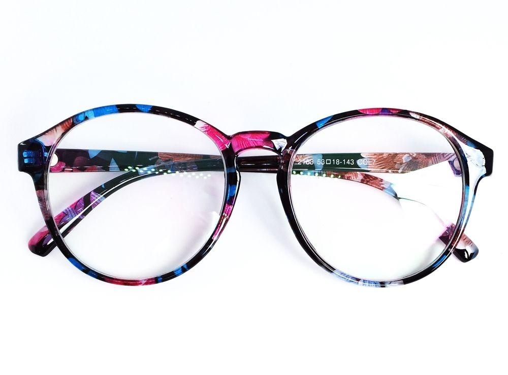Armação Redonda Para Óculos De Grau - Cor Floral - R  54,99 em ... 15ca6602dc