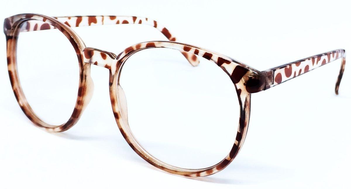 b753d295ff61d Armação Redonda Retrô Para Óculos De Grau - Leopardo - R  50,56 em Mercado  Livre