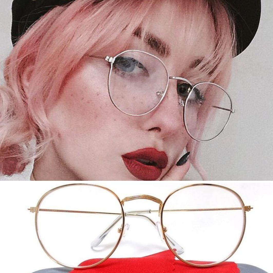 armação redonda-round óculos metal thin hipster john lennon. Carregando  zoom. 7cf2ce255e