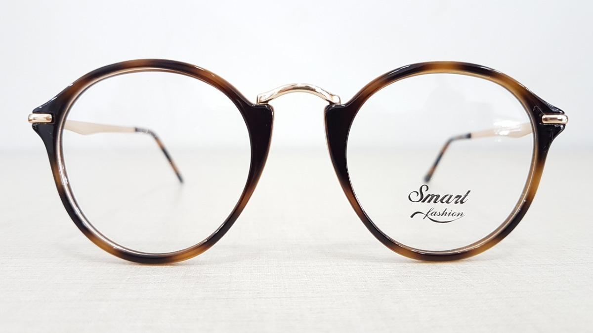 a3c774c69 Armação Redonda Smart Cor Tartaruga Retro Oculos Grau - R$ 129,00 em ...