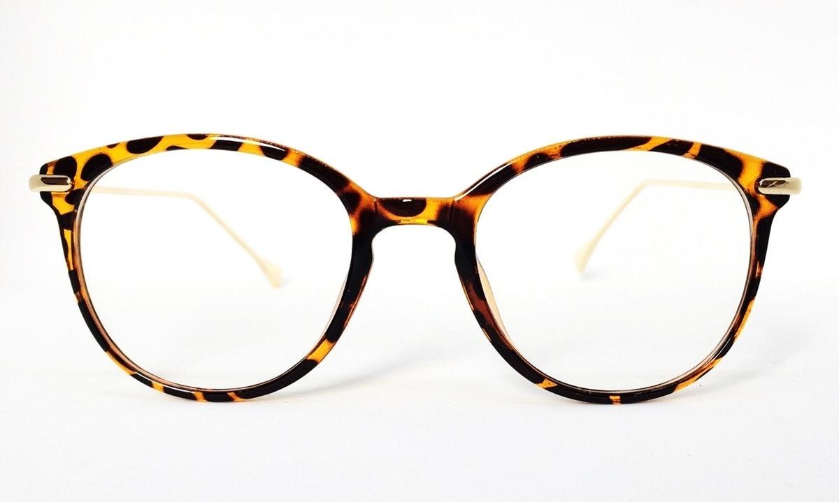 Armação Redonda Vintage Para Óculos De Grau - Leopardo - R  73,02 em ... bf8564fa6c