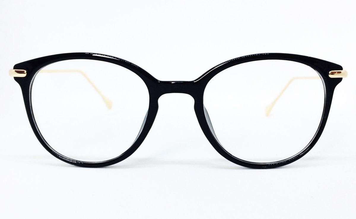 Armação Redonda Vintage Para Óculos De Grau - Preto - R  73,02 em ... 7bab83f026