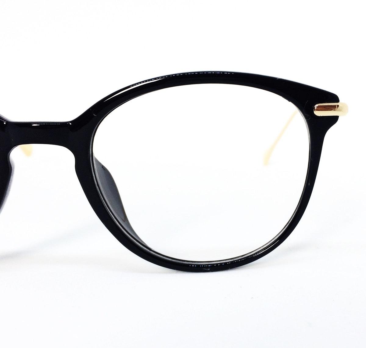 2af2c02a96d2c Armação Redonda Vintage Para Óculos De Grau - Preto - R  77,37 em Mercado  Livre