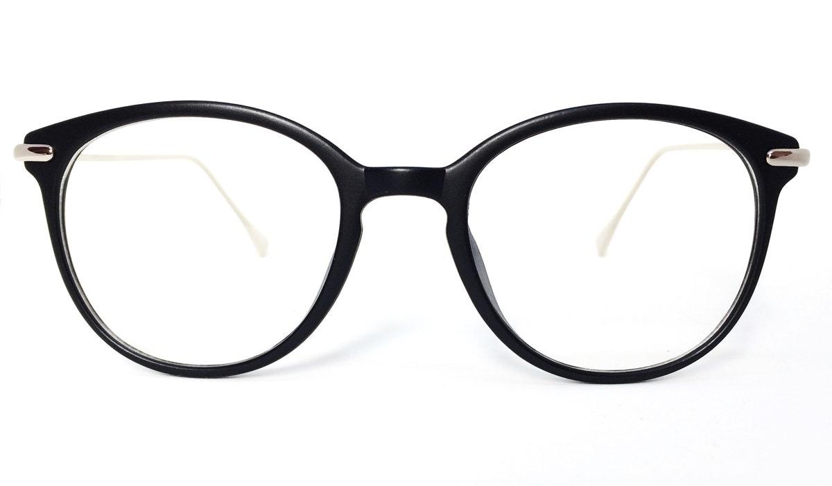 7c1a03a8292a5 Armação Redonda Vintage Para Óculos De Grau - Preto Fosco - R  73