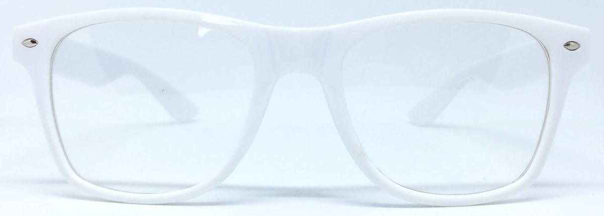 42478d2888620 armação retrô unissex para óculos de grau - branco. Carregando zoom.