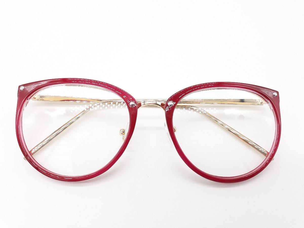 31f0c331b Armação Round Geek Retro Gatinho Oculos Gráu - R$ 39,90 em Mercado Livre