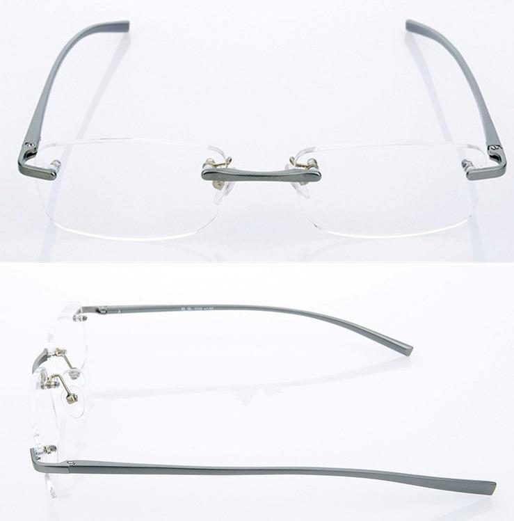 58afd8f2e4f94 Armação Sem Aro Em Alumínio Com Molas - Leve E Confortável - R  80,00 em  Mercado Livre