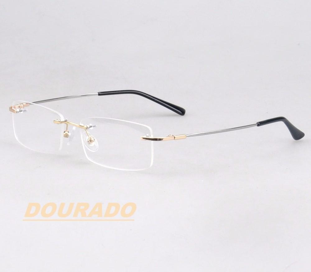 6cb5a1a0e Armação Sem Aro Em Titânio Memory P/ Óculos De Grau Flexível - R$ 85 ...