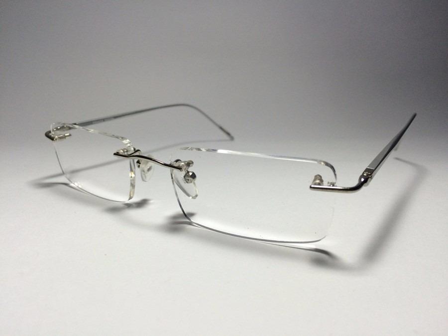 fa7c259e64d0b armação sem aro flutuante unissex óculos para lente de grau. Carregando  zoom.