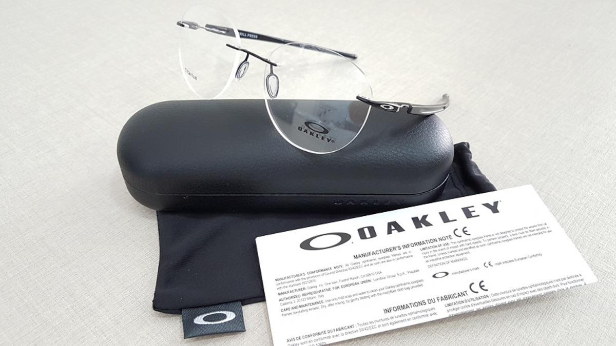 a6a6f15ffb231 Armação Sem Aro Oakley Drill Press Black Ox5143 Lançamento - R  499 ...