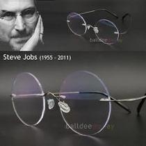 f35db88e587d7 Armação Sem Aro Redonda Parafusada Em Titanium - Steve Jobs - R  94 ...